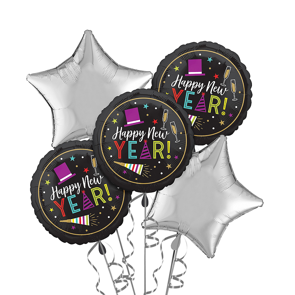 Bright New Year's Eve Balloon Kit Image #1
