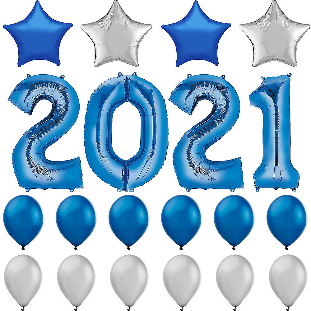 Blue 2019 Number Balloon Kit Image #1
