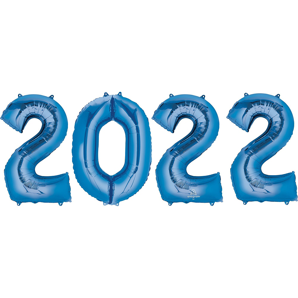 Blue 2019 Number Balloon Kit Image #6