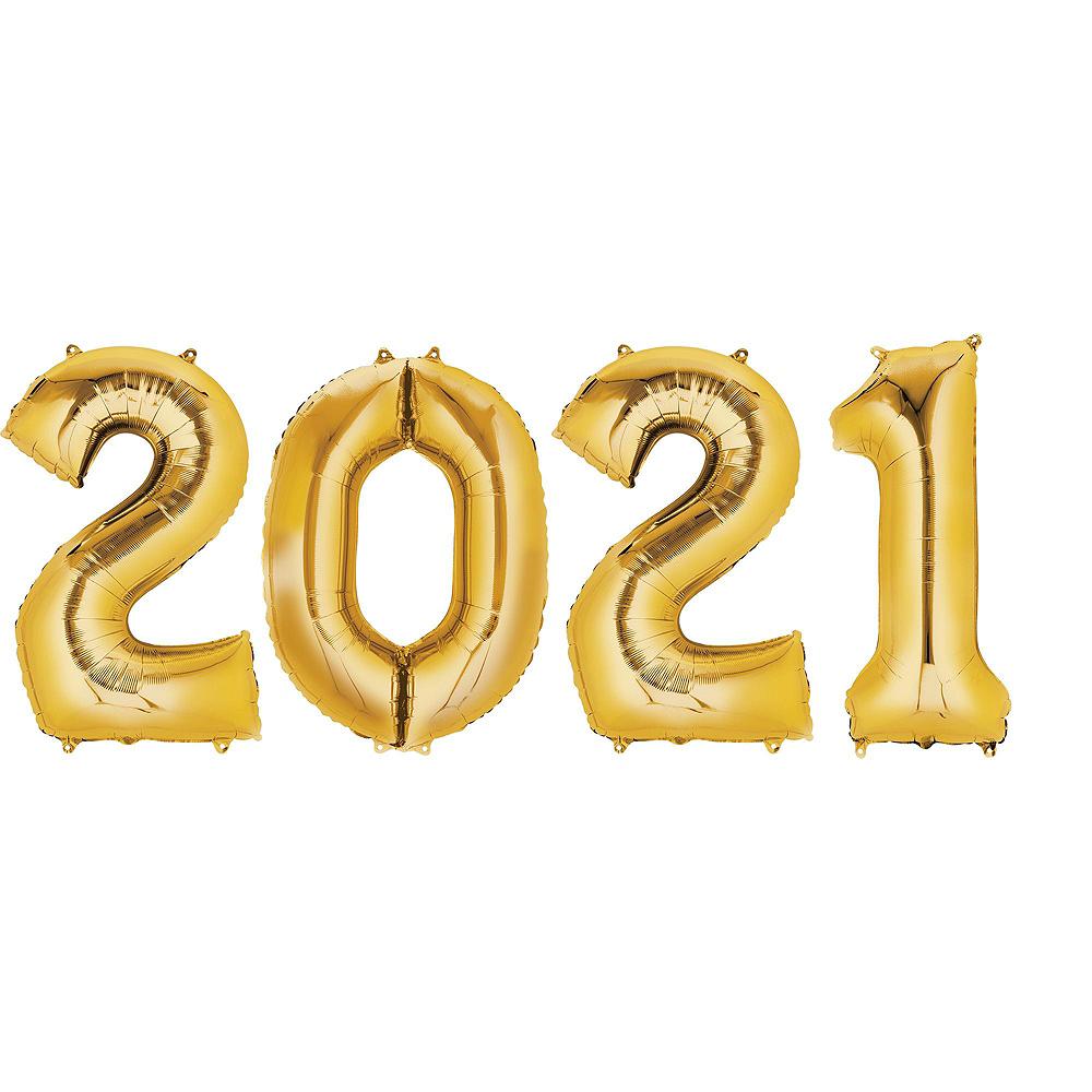 Gold 2019 Number Balloon Kit Image #6