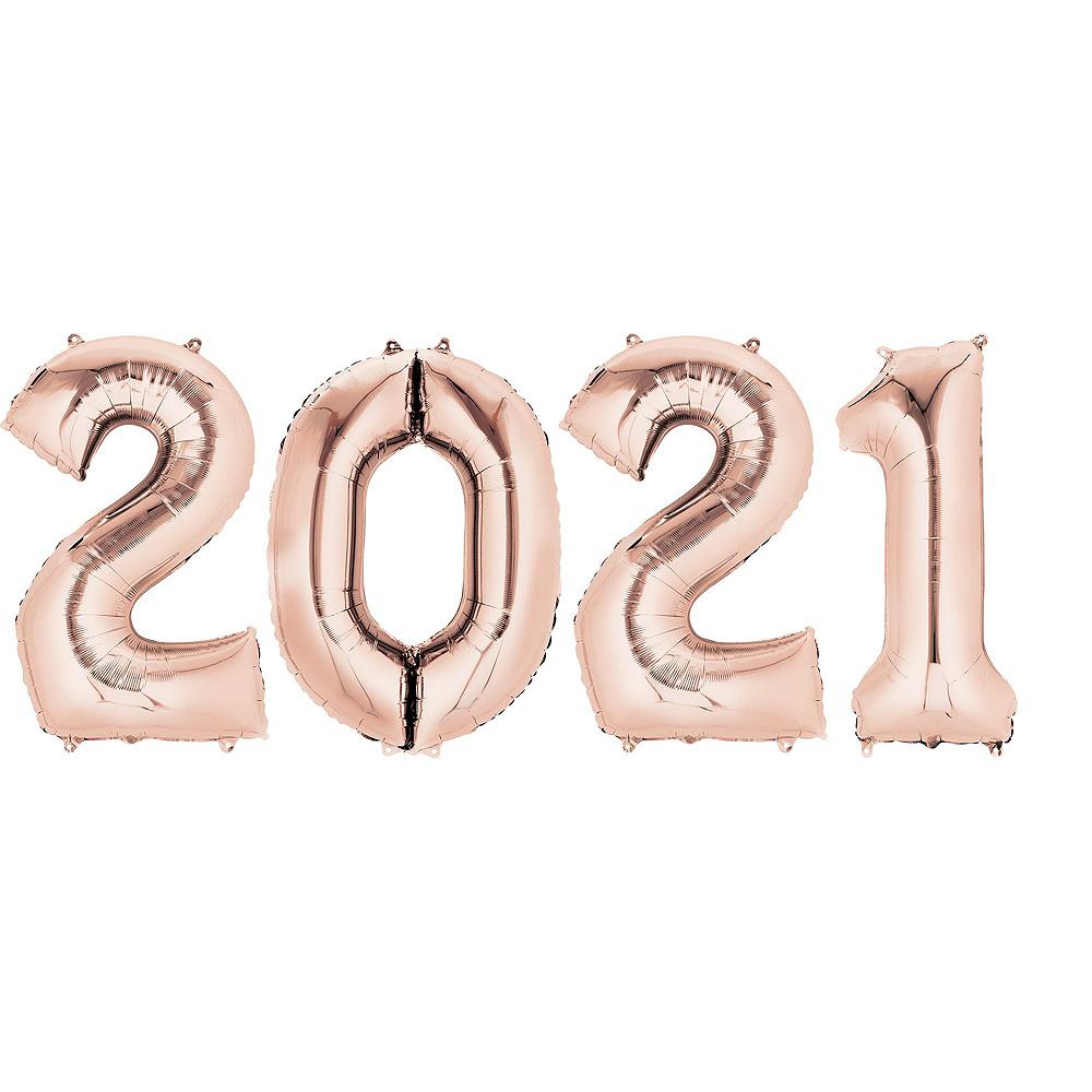 34in Rose Gold 2020 Number Balloon Kit Image #6