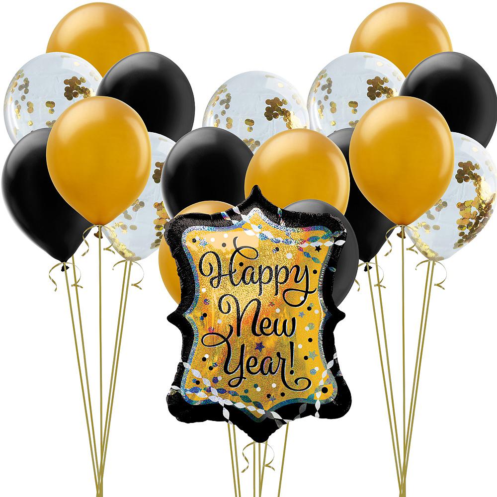 Gold Confetti Balloon Kit Image #1