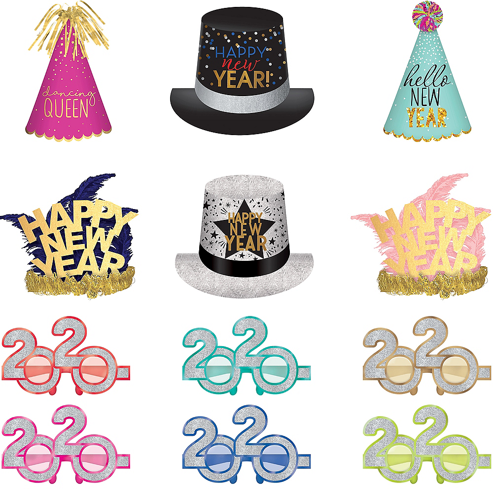 Colorful New Year's Eve Wearable Accessory Kit for 24 Guests Image #1