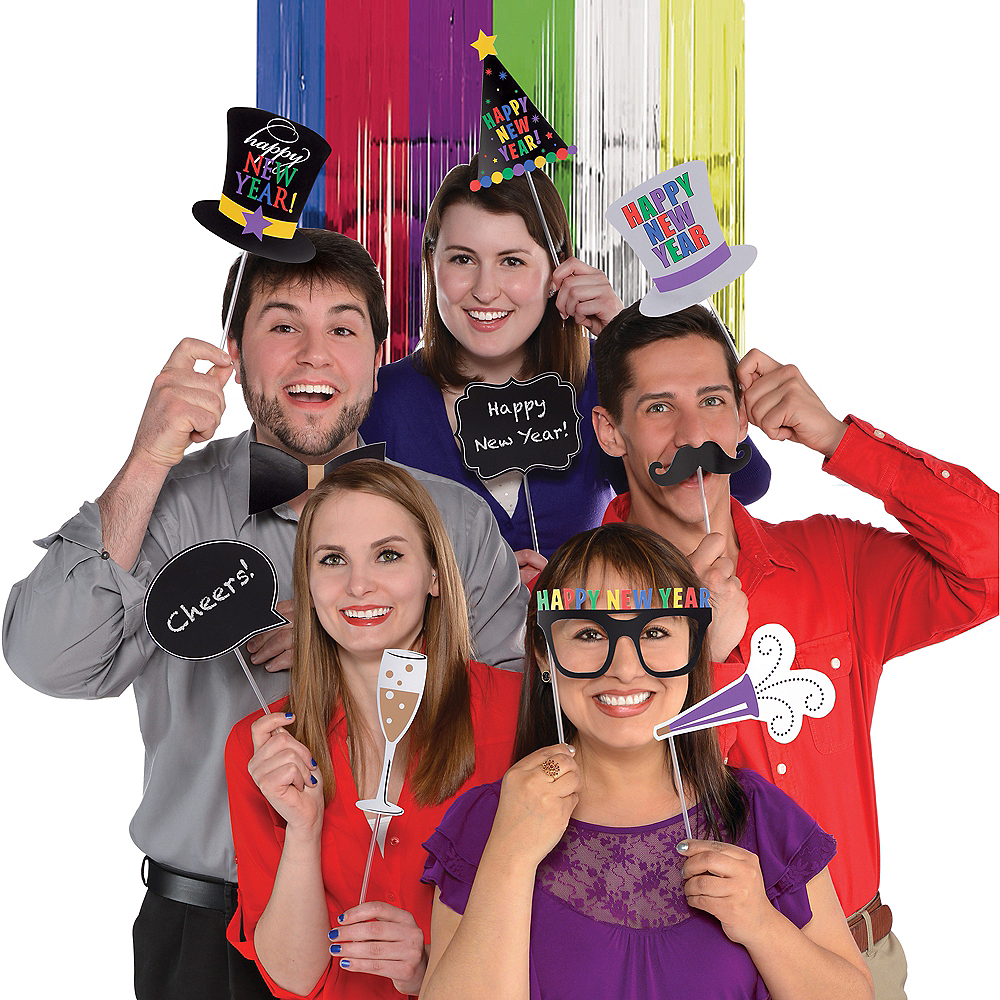 Colorful New Year's Eve Photo Booth Kit Image #1