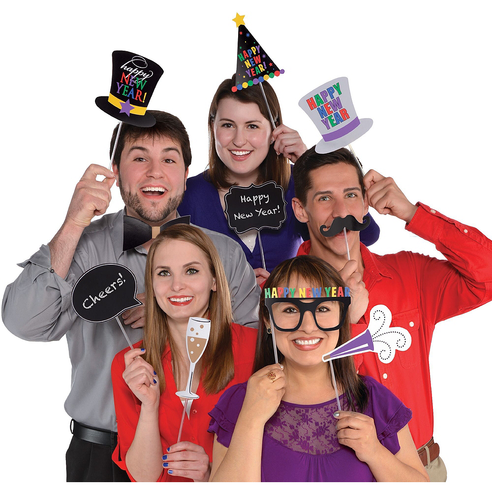 Colorful New Year's Eve Photo Booth Kit Image #2