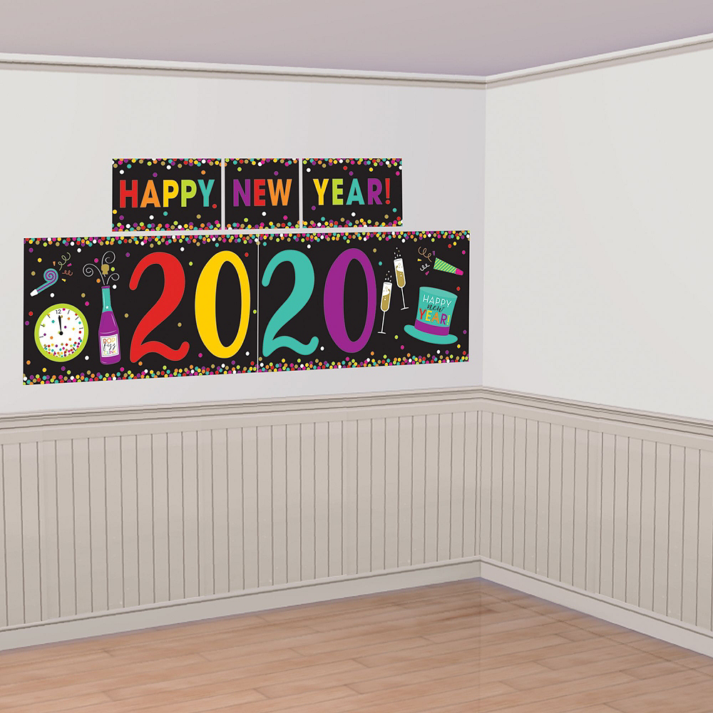 Colorful New Year's Eve Accessory & Decor Kit for 50 Guests Image #3