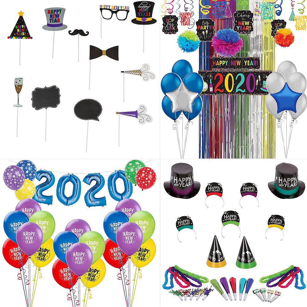 Super Colorful New Year's Eve Accessory & Decor Kit for 100 Guests Image #1