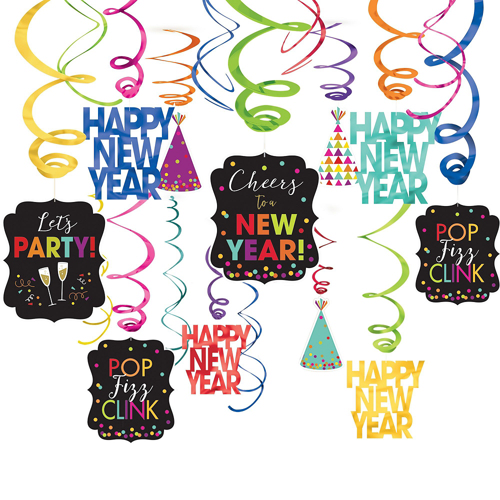 Super Colorful New Year's Eve Accessory & Decor Kit for 100 Guests Image #4