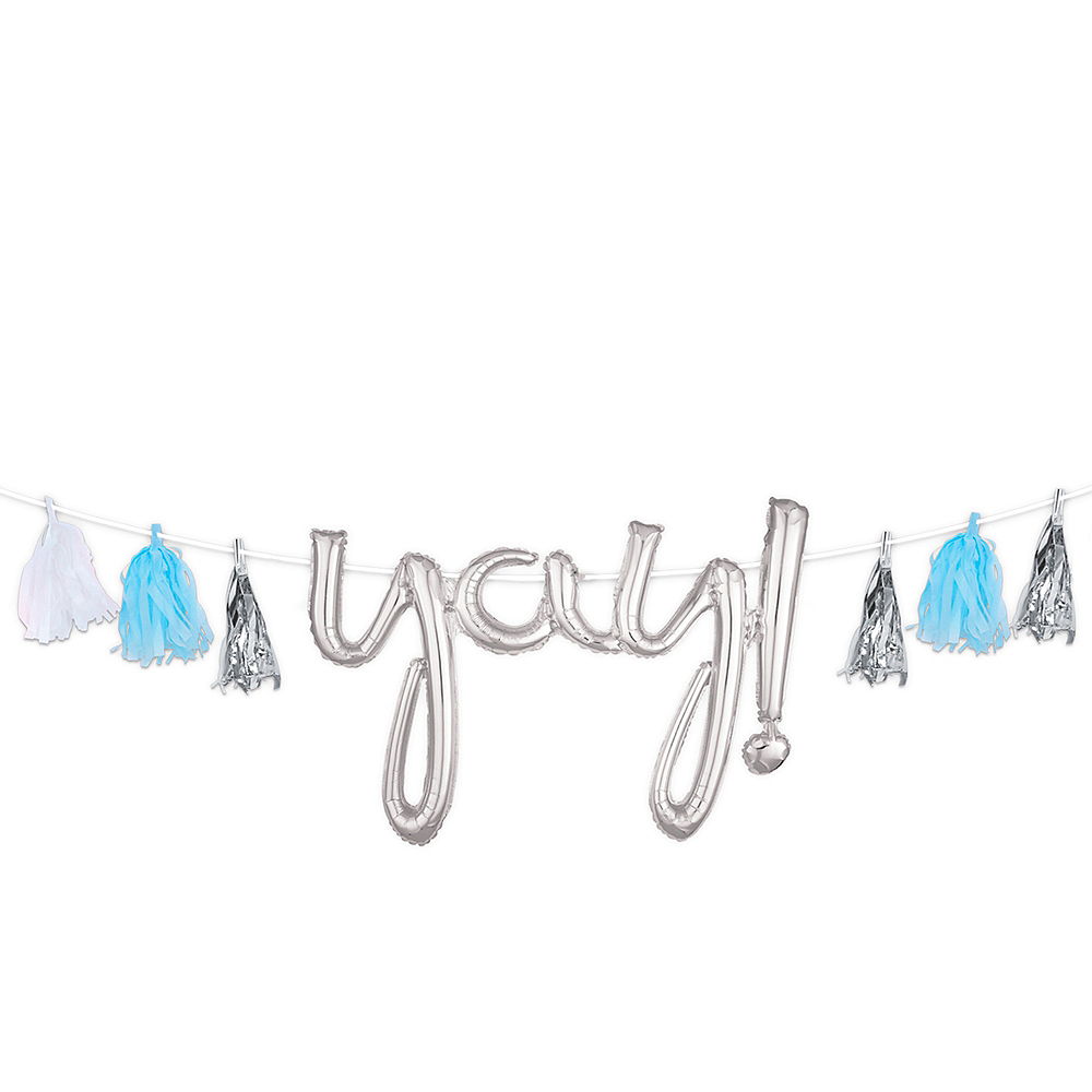 Create Your Own Silver & Blue Tassel Garland Image #1
