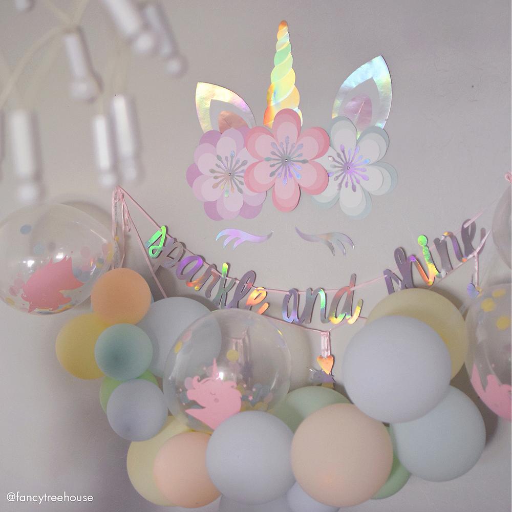Magical Rainbow Unicorn Confetti Balloons 6ct Image #5