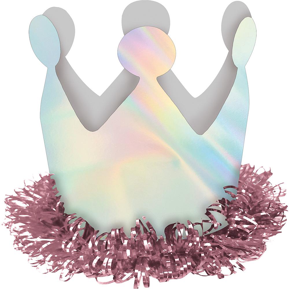 Mini Iridescent Magical Rainbow Crown Hair Clip Image #1