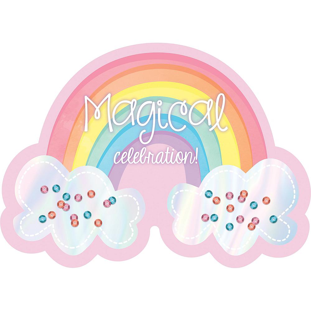 Magical Rainbow Invitations 8ct Image #1