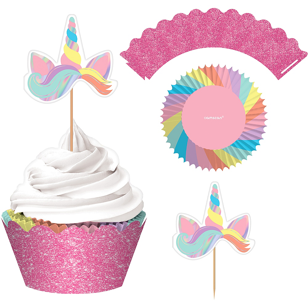 Magical Rainbow Cupcake Kit for 24 Image #1