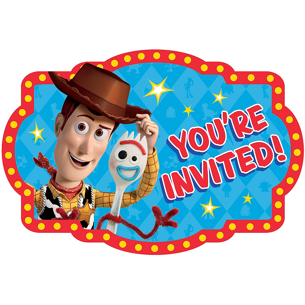 Toy Story 4 Invitations 8ct Image #1