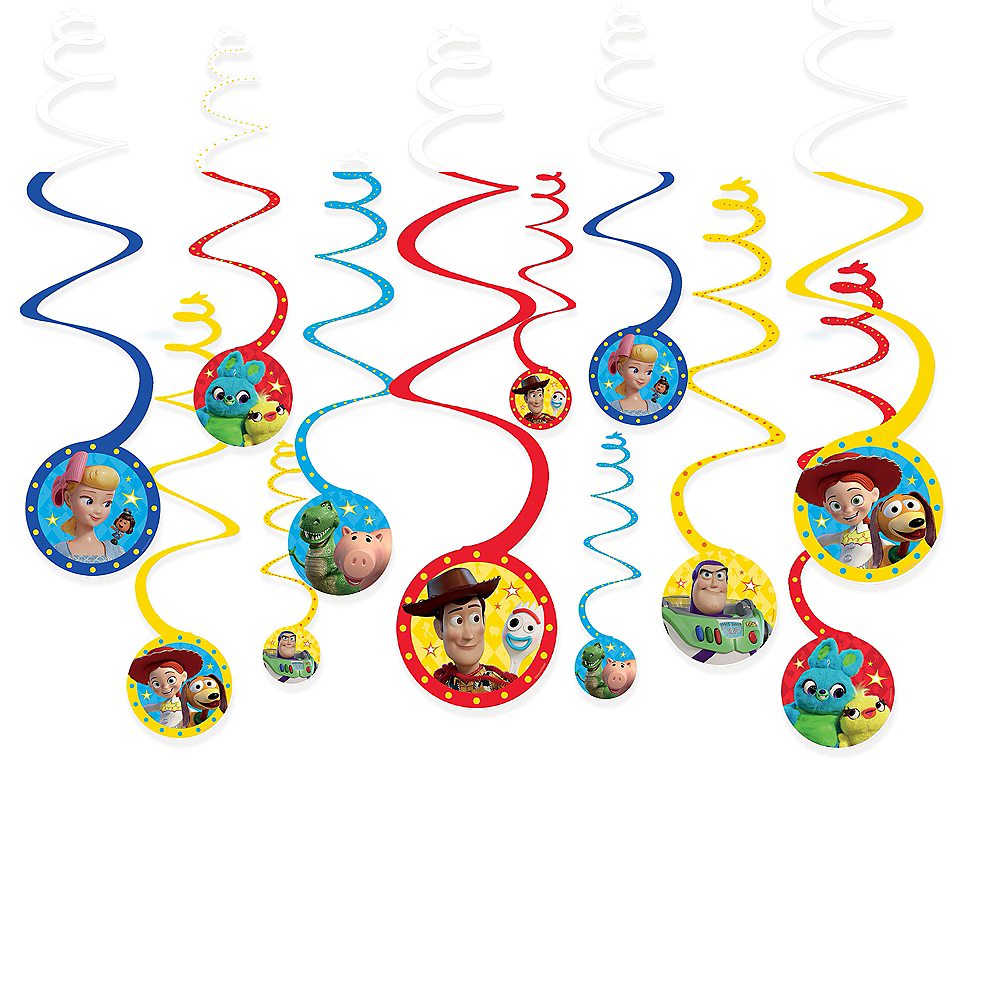 Toy Story 4 Swirl Decorations 12ct Image #1
