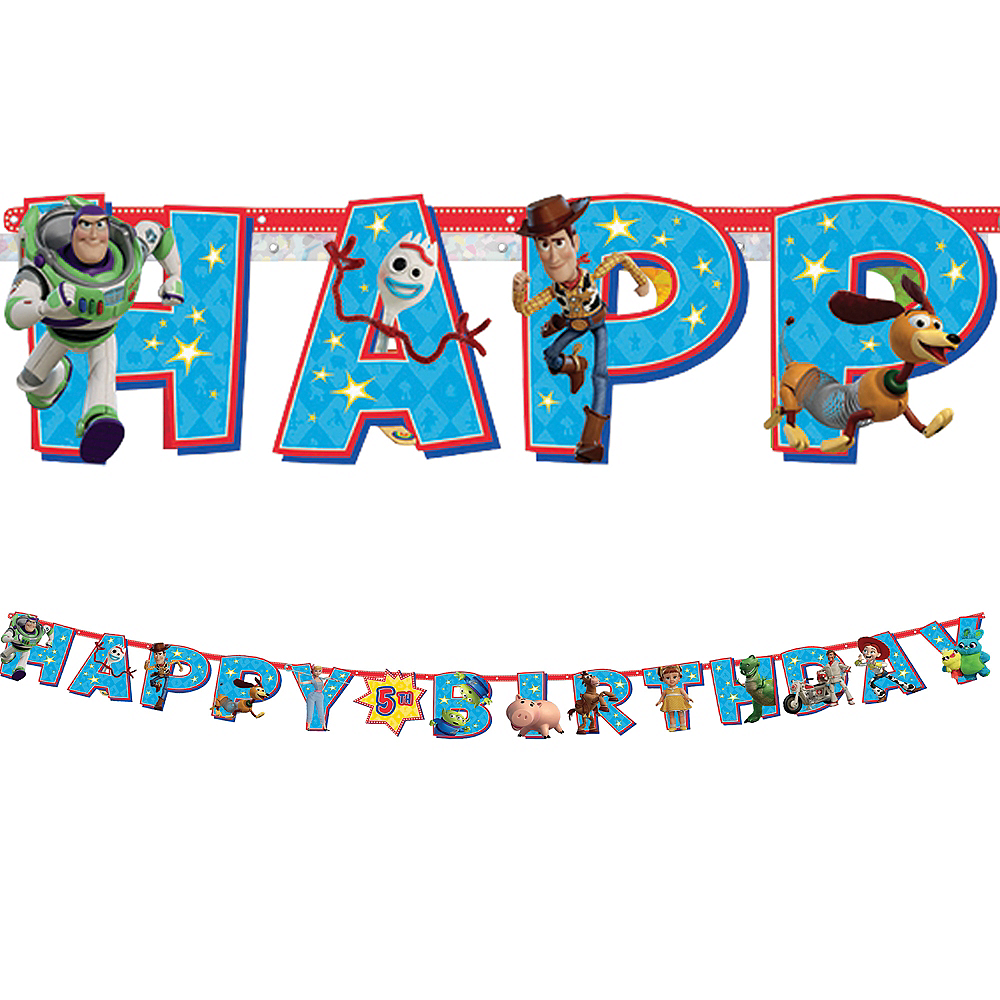 Toy Story 4 Birthday Banner Kit Image #1