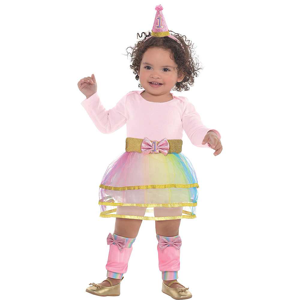 Pink 1st Birthday Accessory Kit Image #1