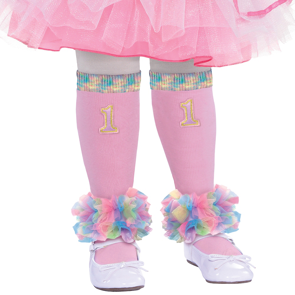 Nav Item for Pink 1st Birthday Leg Warmers Image #1