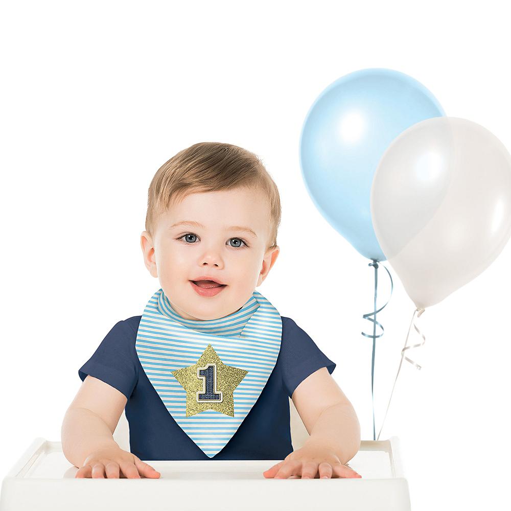 Blue 1st Birthday Bib Image #1