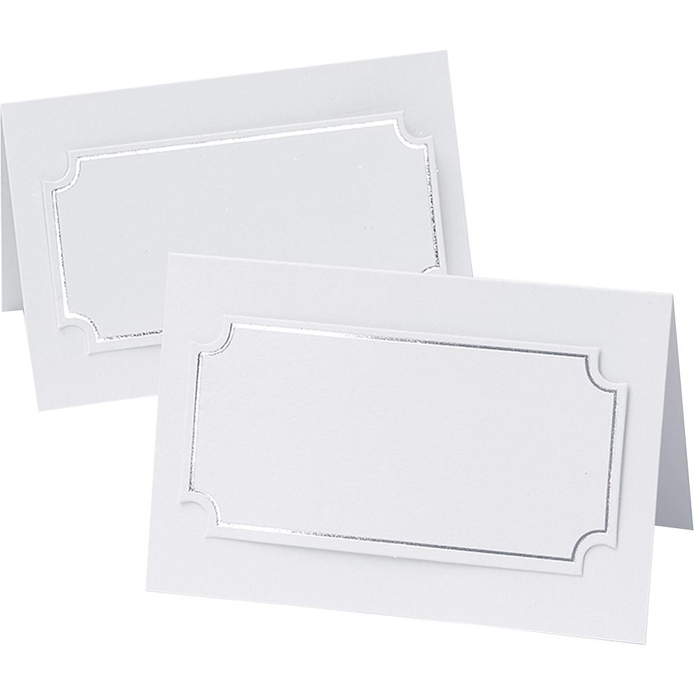 Silver Foil Place Cards 50ct Image #1