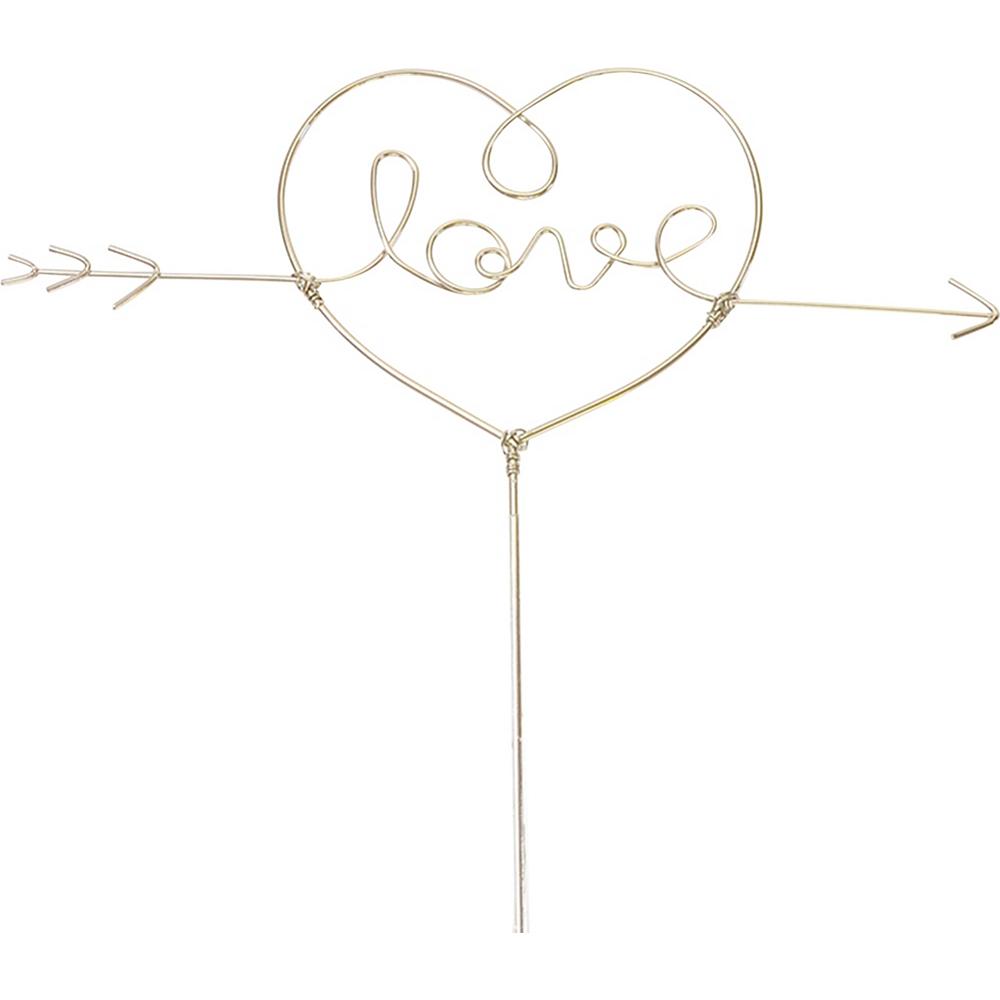Love Heart Wire Cake Topper Image #1