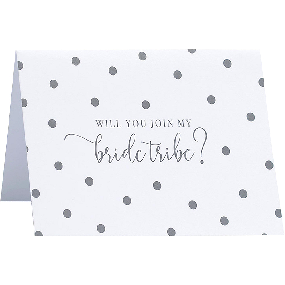 Gray Dot Bride Tribe Note Cards 8ct Image #1