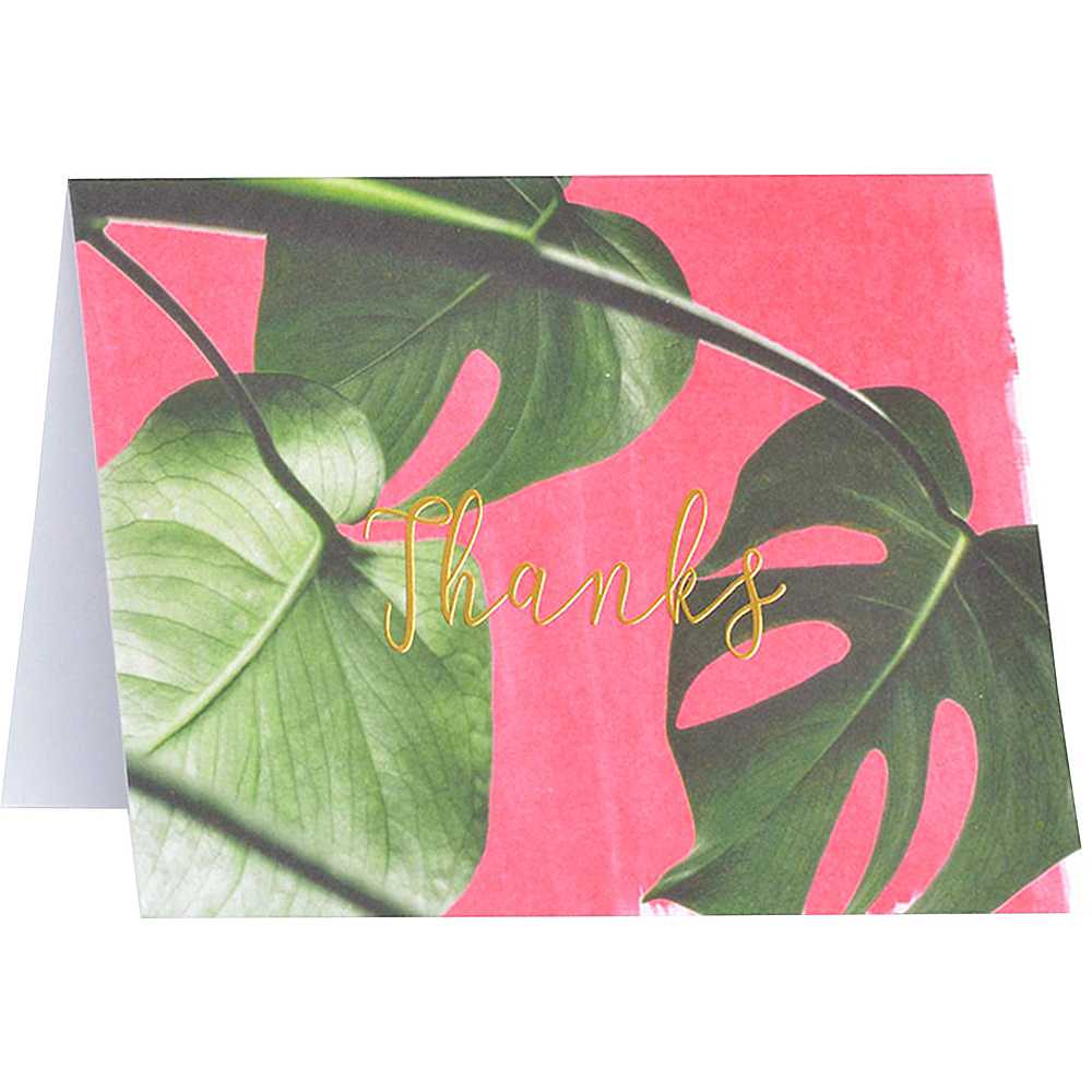 Pink Palm Thank You Notes 15ct Image #1