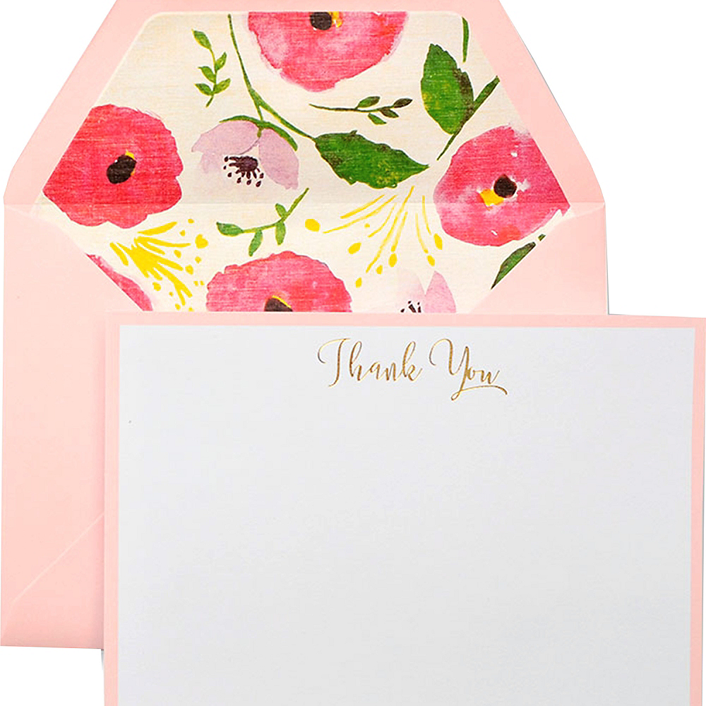 Pink Poppy Thank You Notes 10ct Image #1