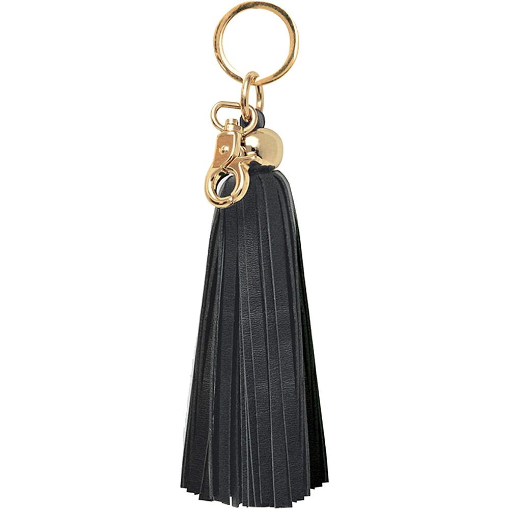 Black Leather Keychain Tassel Image #1