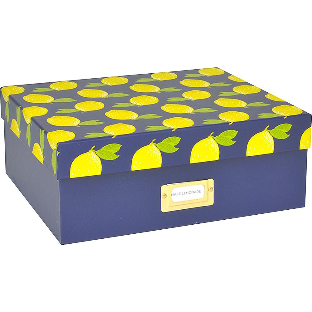 Lemons & Navy Storage Box Image #1
