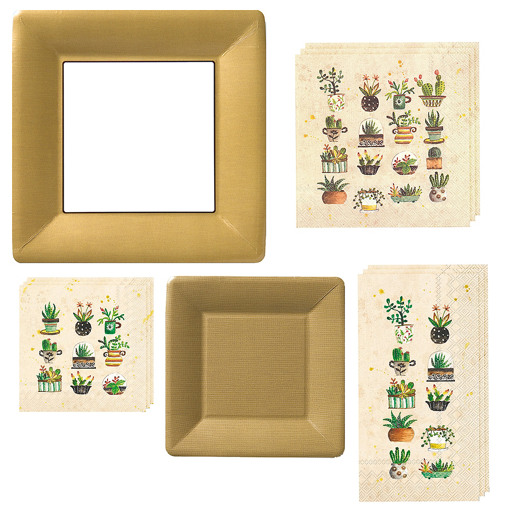 Succulents Tableware Kit for 16 Guests Image #1