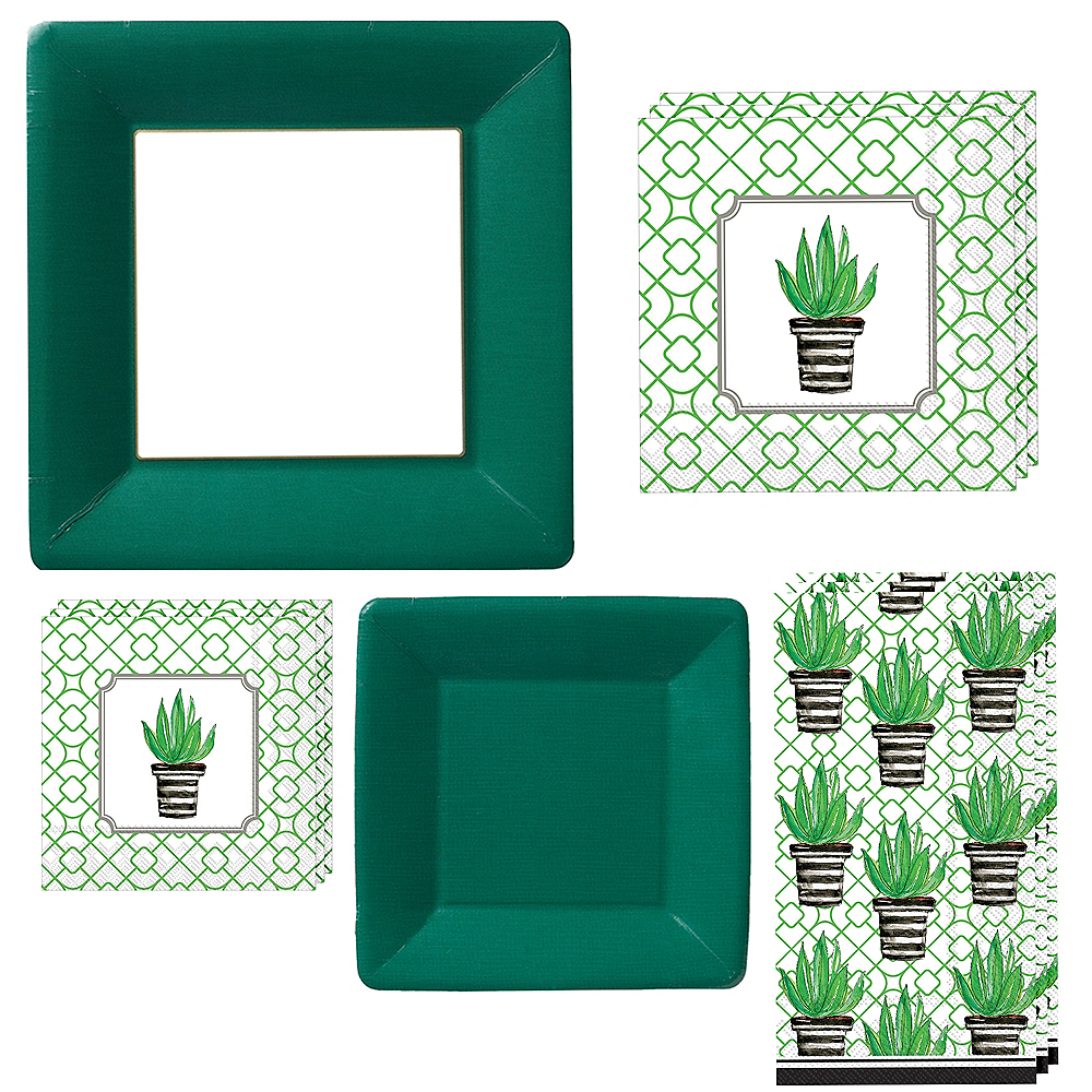 Cactus Tableware Kit for 16 Guests Image #1