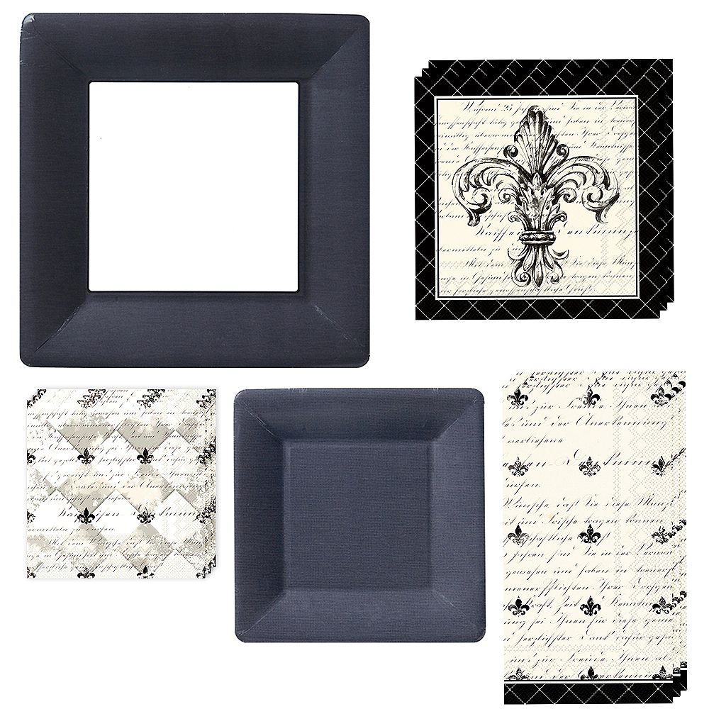 Fleur-de-Lis Tableware Kit for 16 Guests Image #1