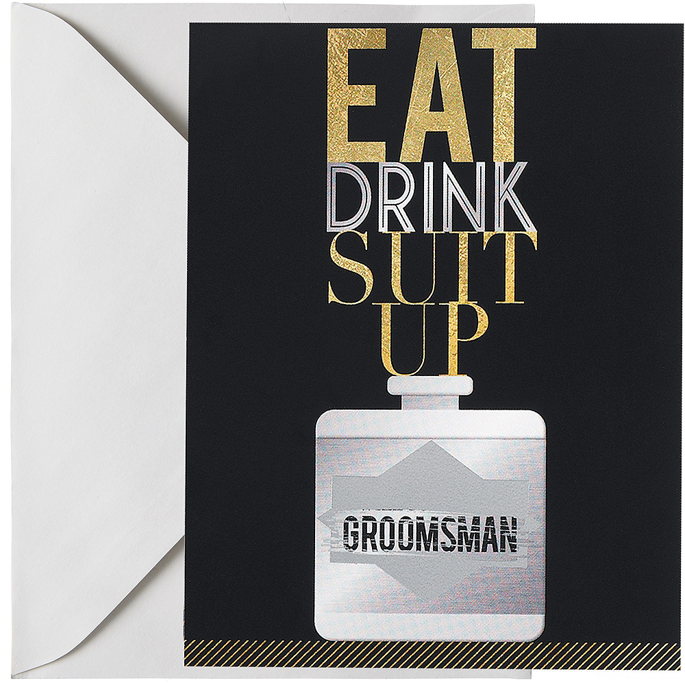 Nav Item for Suit Up Groomsman Scratch-Off Card Image #1