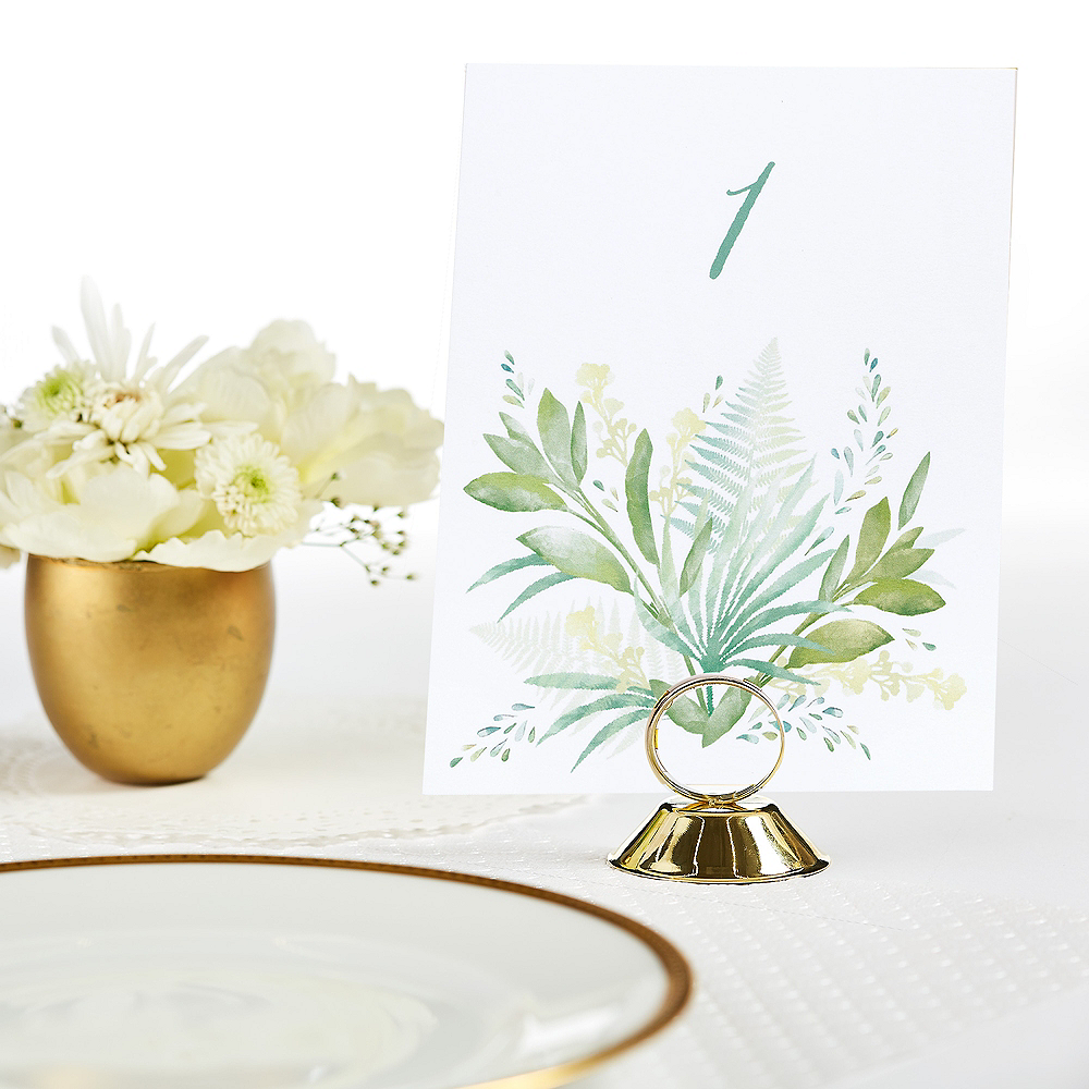 Greenery Table Number Cards 1-40 Image #1