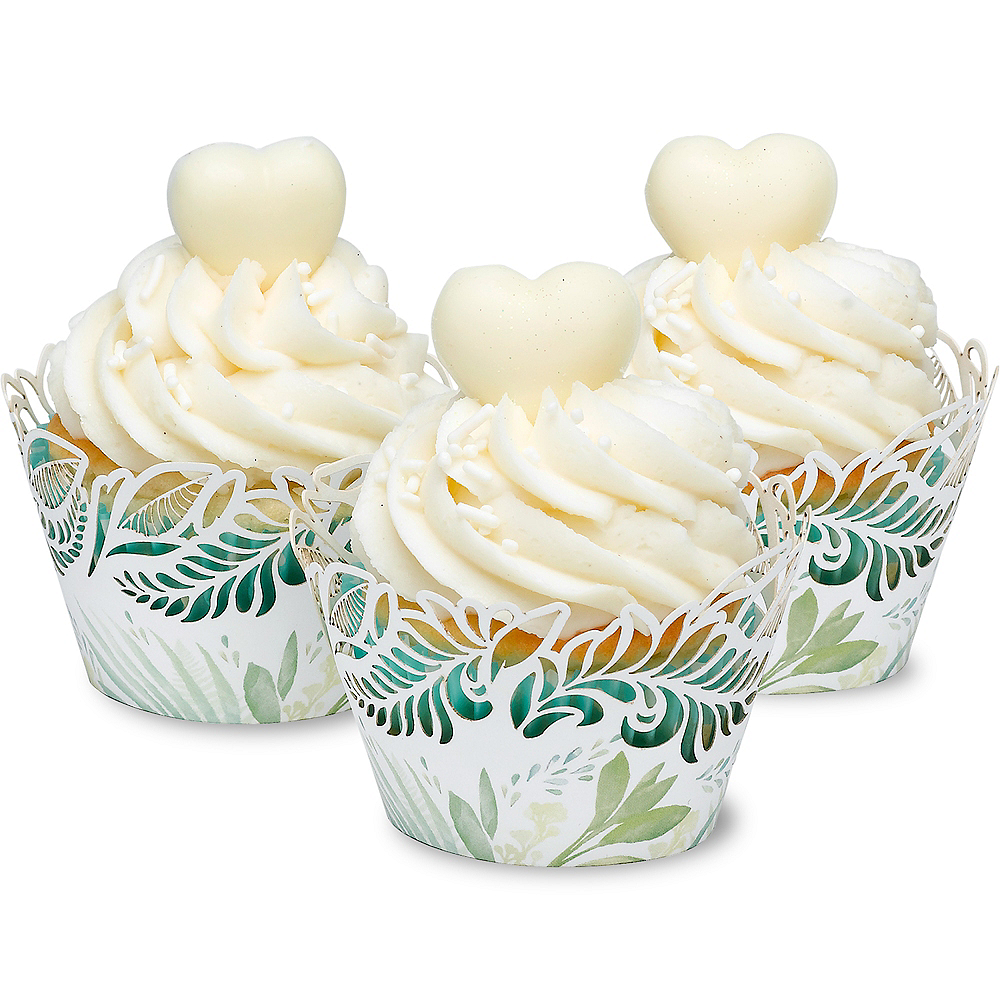 Greenery Cupcake Wrappers 24ct Image #1