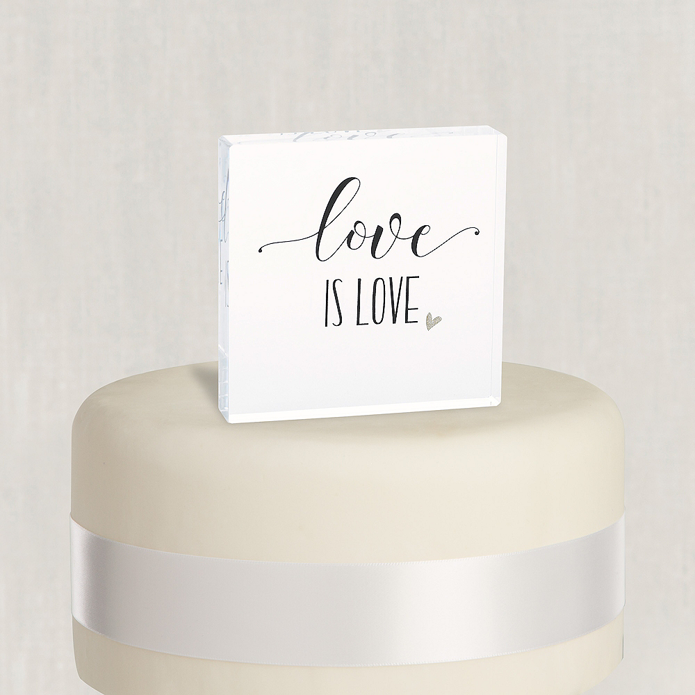 Love Is Love Cake Topper Image #1