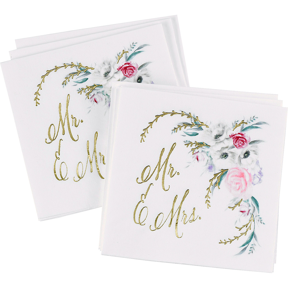 Ethereal Floral Beverage Napkins 50ct Party City