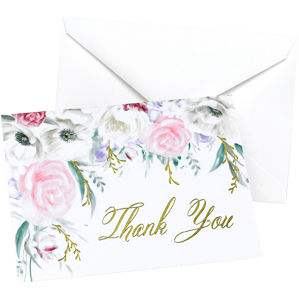 Ethereal Floral Thank You Notes 50ct Image #1