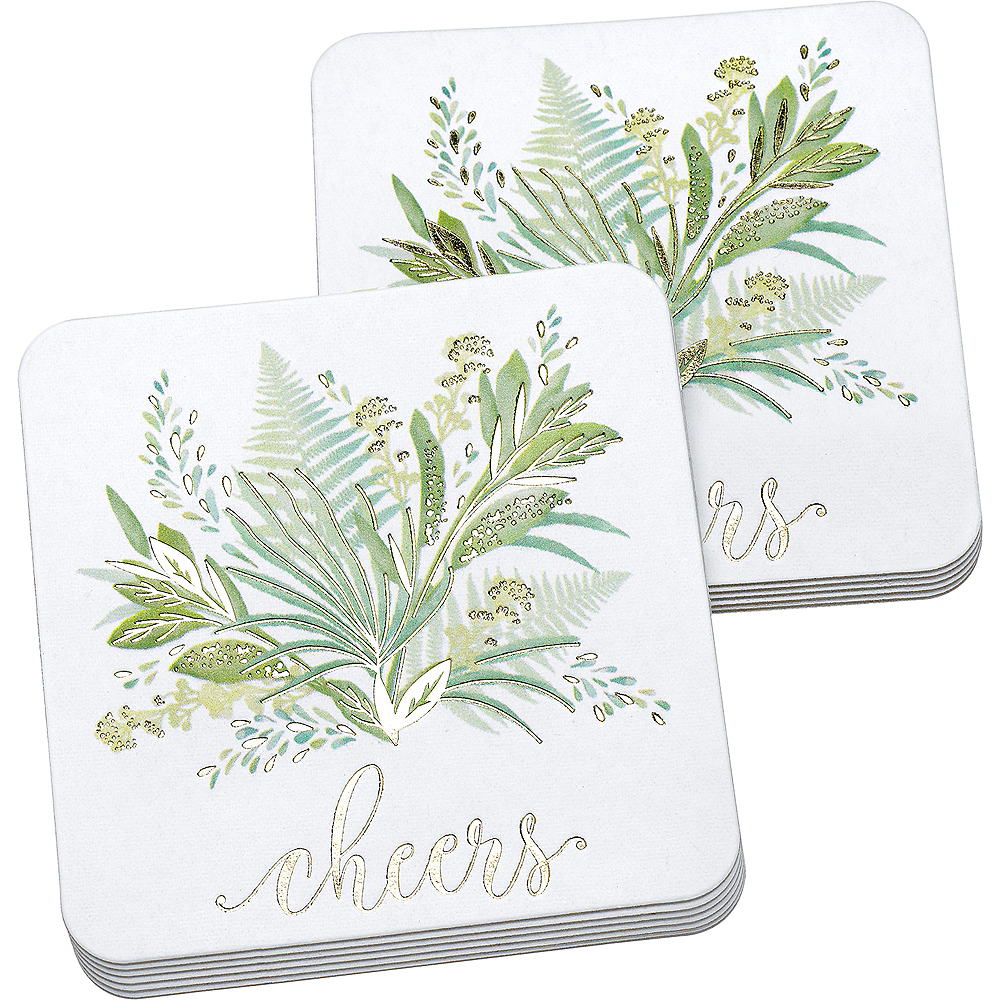 Greenery Coasters 25ct Image #1