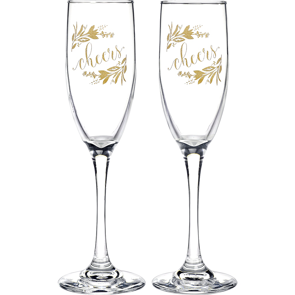Greenery Champagne Flutes 2ct Image #1