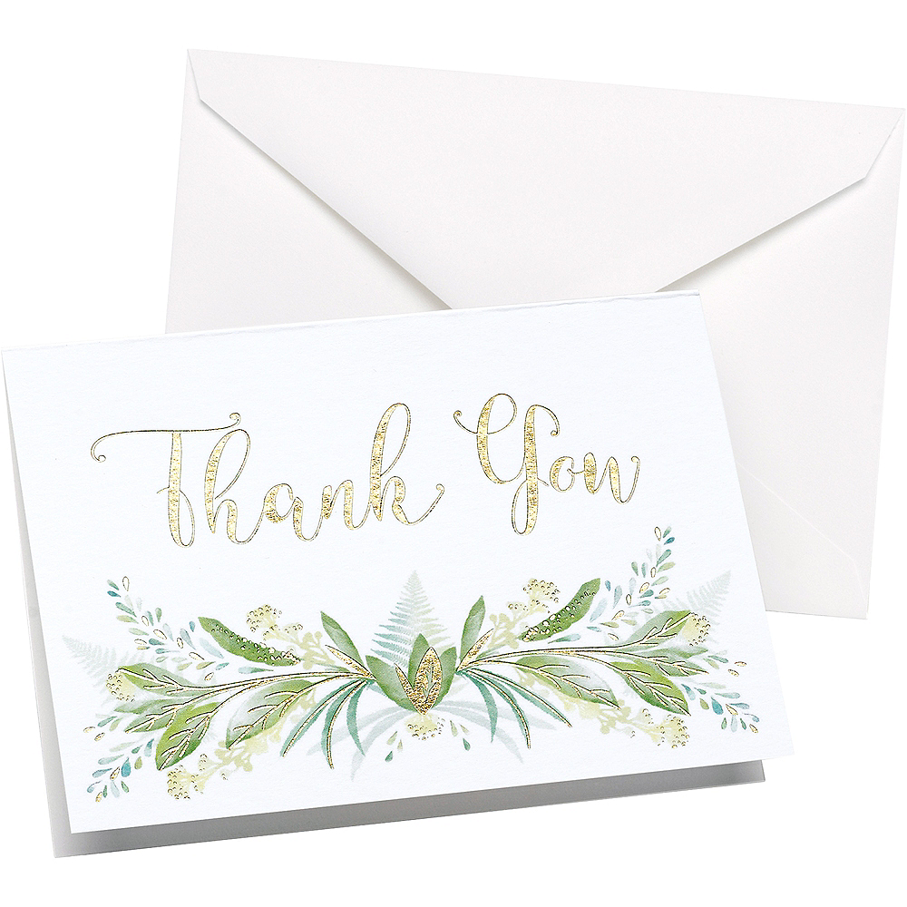 Greenery Thank You Notes 50ct Image #1