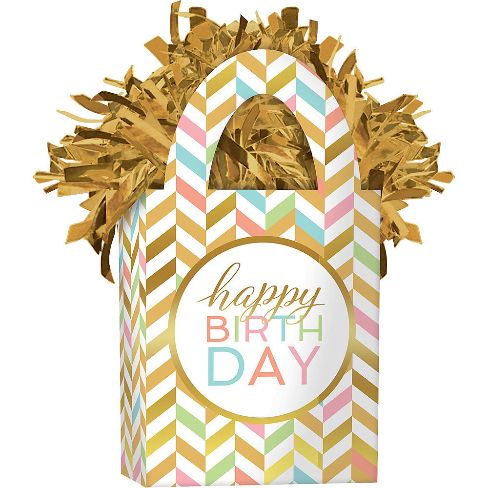 Pastel & Gold Balloon Weight Image #1