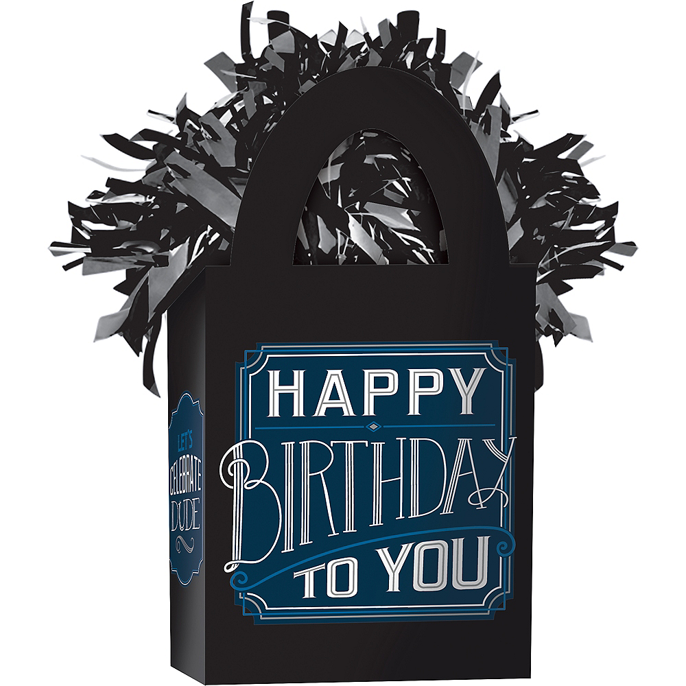Happy Birthday Classic Balloon Weight Image #1