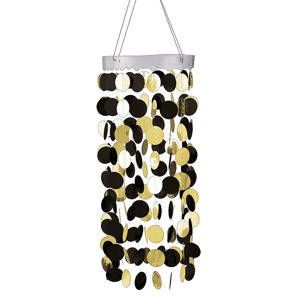 Black & Gold Circle Chandelier Image #1