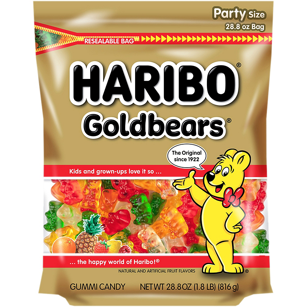 Haribo Gold Bears Gummi Candy Party Size Bag