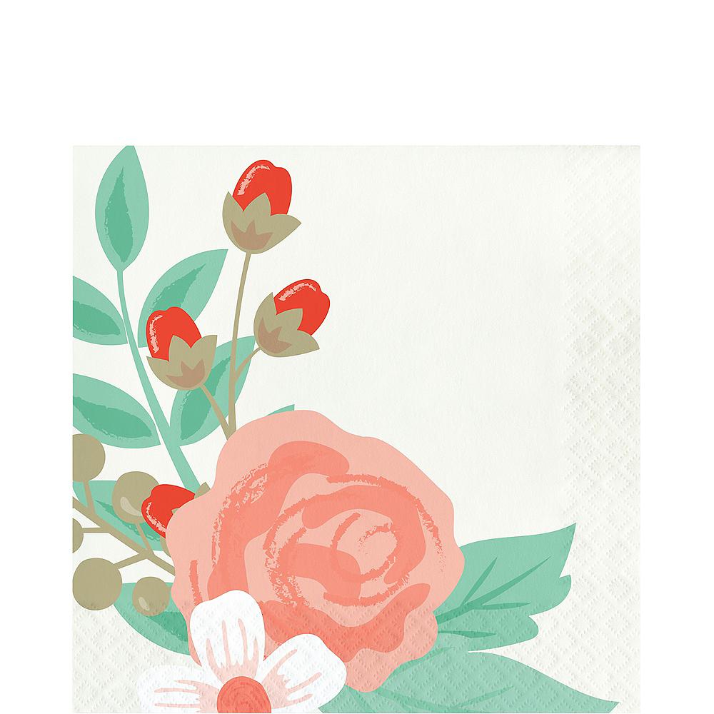 Modern Floral Lunch Napkins 16ct Image #1