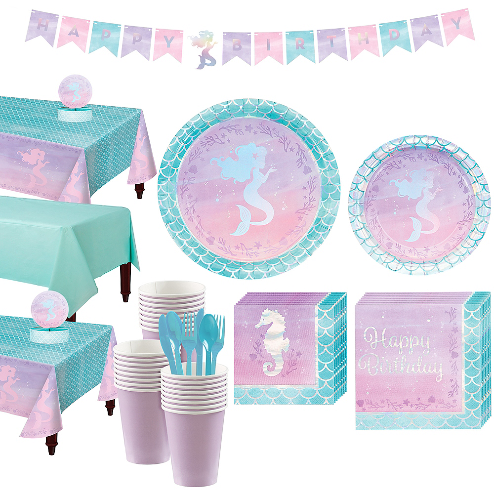 Shimmer Mermaid Basic Party Kit for 24 Guests Image #1