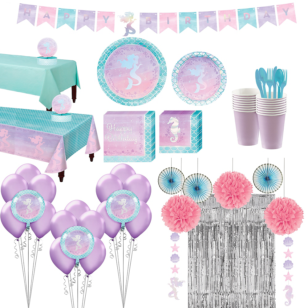Shimmer Mermaid Ultimate Party Kit for 16 Guests Image #1