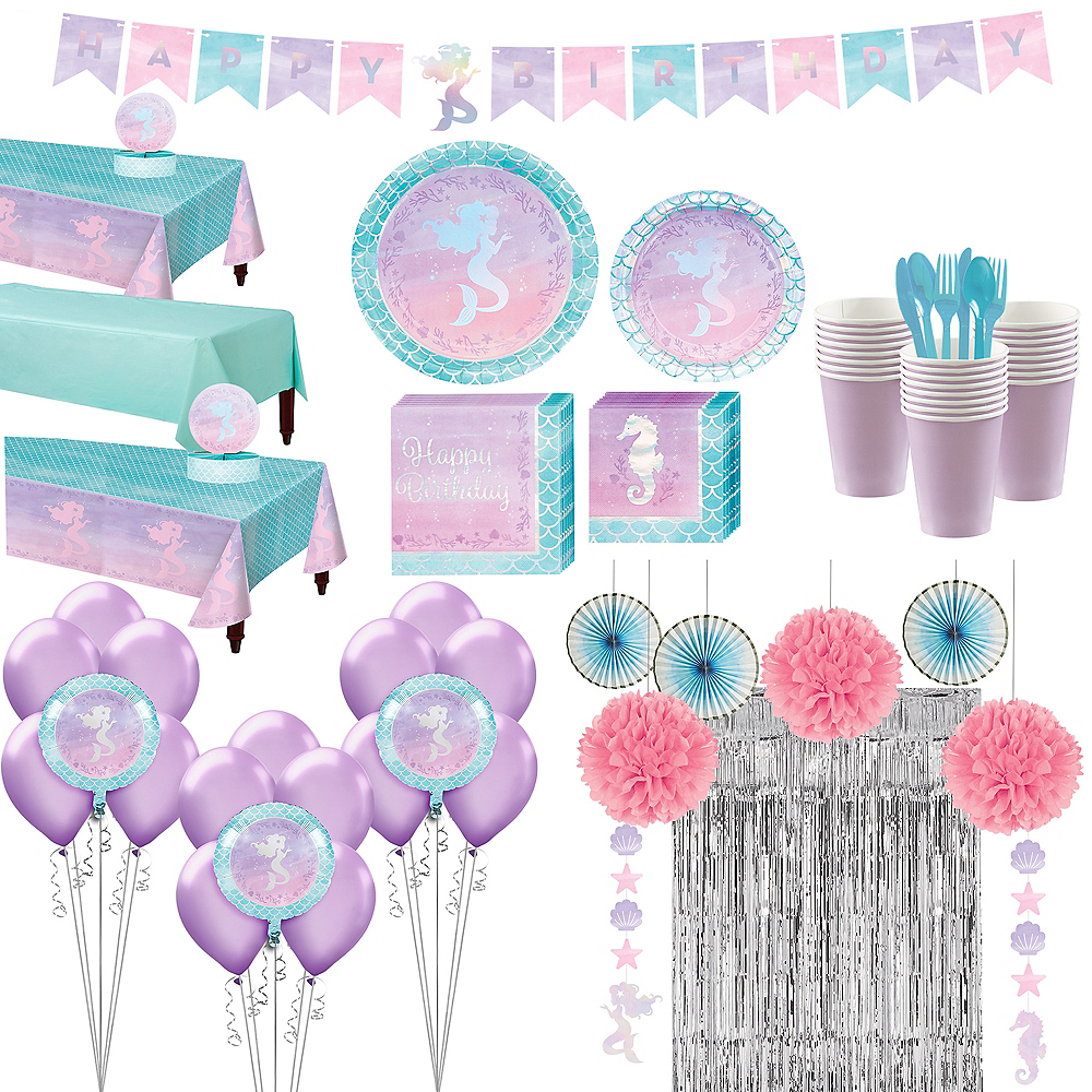 Shimmer Mermaid Ultimate Party Kit for 24 Guests Image #1